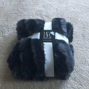 INC Fur Throw
